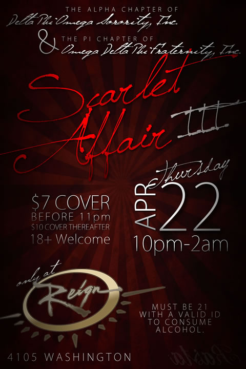 Scarlet Affair Party Flyer